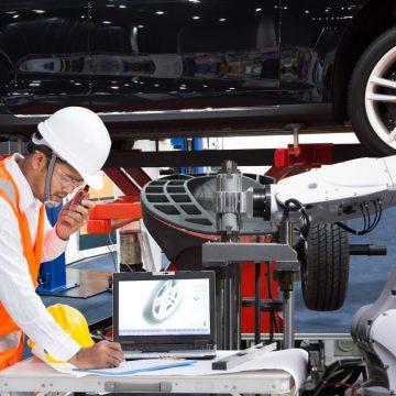 A man repair the car